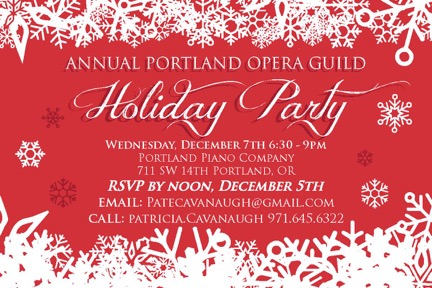 Join our Membership Event at Portland Piano Company Dec 7th.