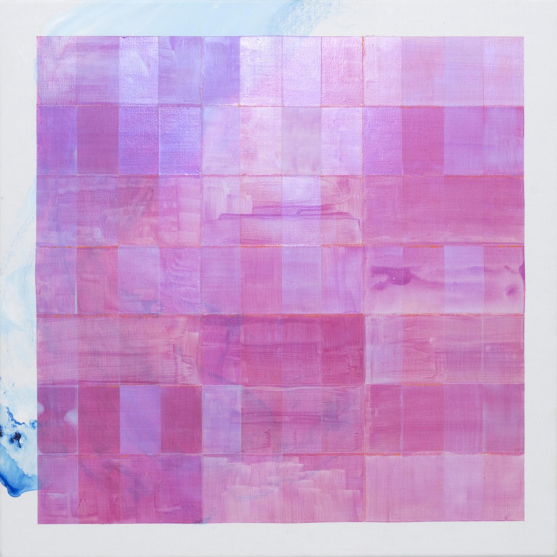 A will (a heart) - Teresa , 2015, acrylic and crayon on linen, 56x56cm. (NFS)