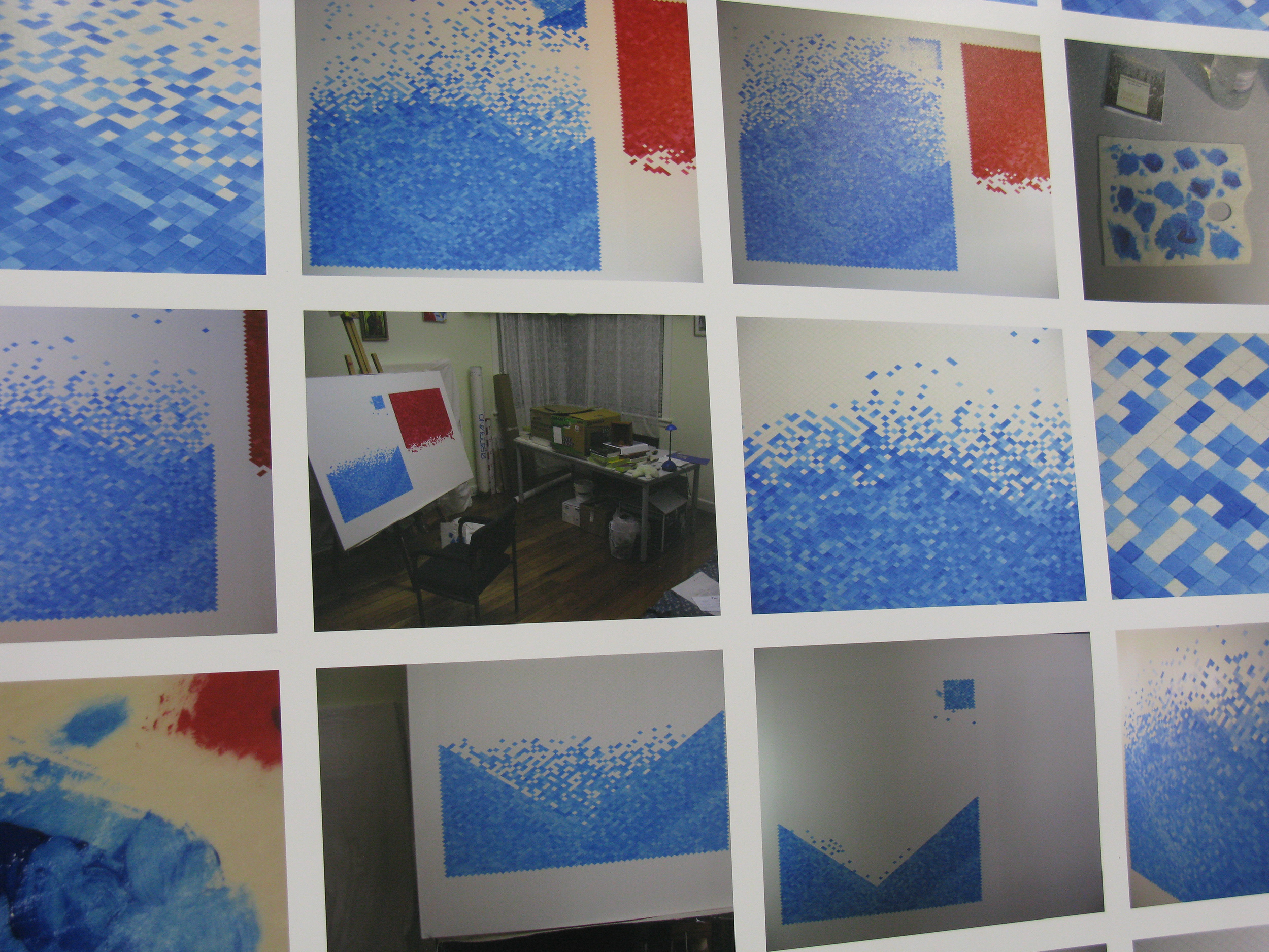Progress of a painting  (detail), 2010,digital prints.  From  It takes time and it's worth it , Blindside, Melbourne, July 2010.