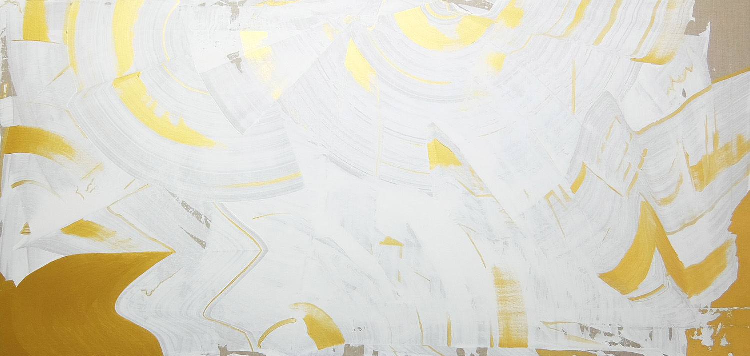 Striving to be , 2015, acrylic on linen, 87x183cm