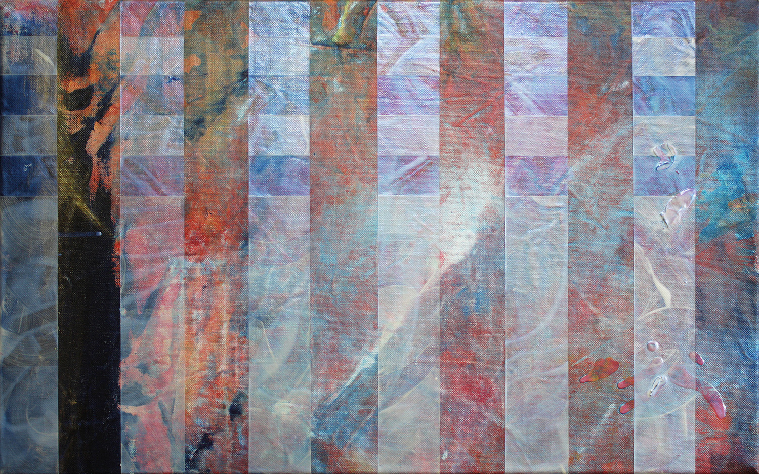 Seven  Steps , 2015, acrylic on linen,   38.5x61.5cm. (acquired)