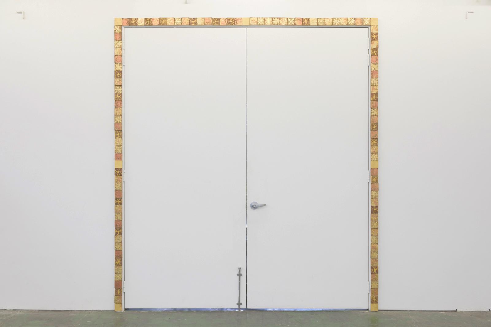 James Murnane,  St Joseph's Gate , 2019, acrylic on Californian Redwood, 277×249cm.  Image: Aaron Christopher Rees