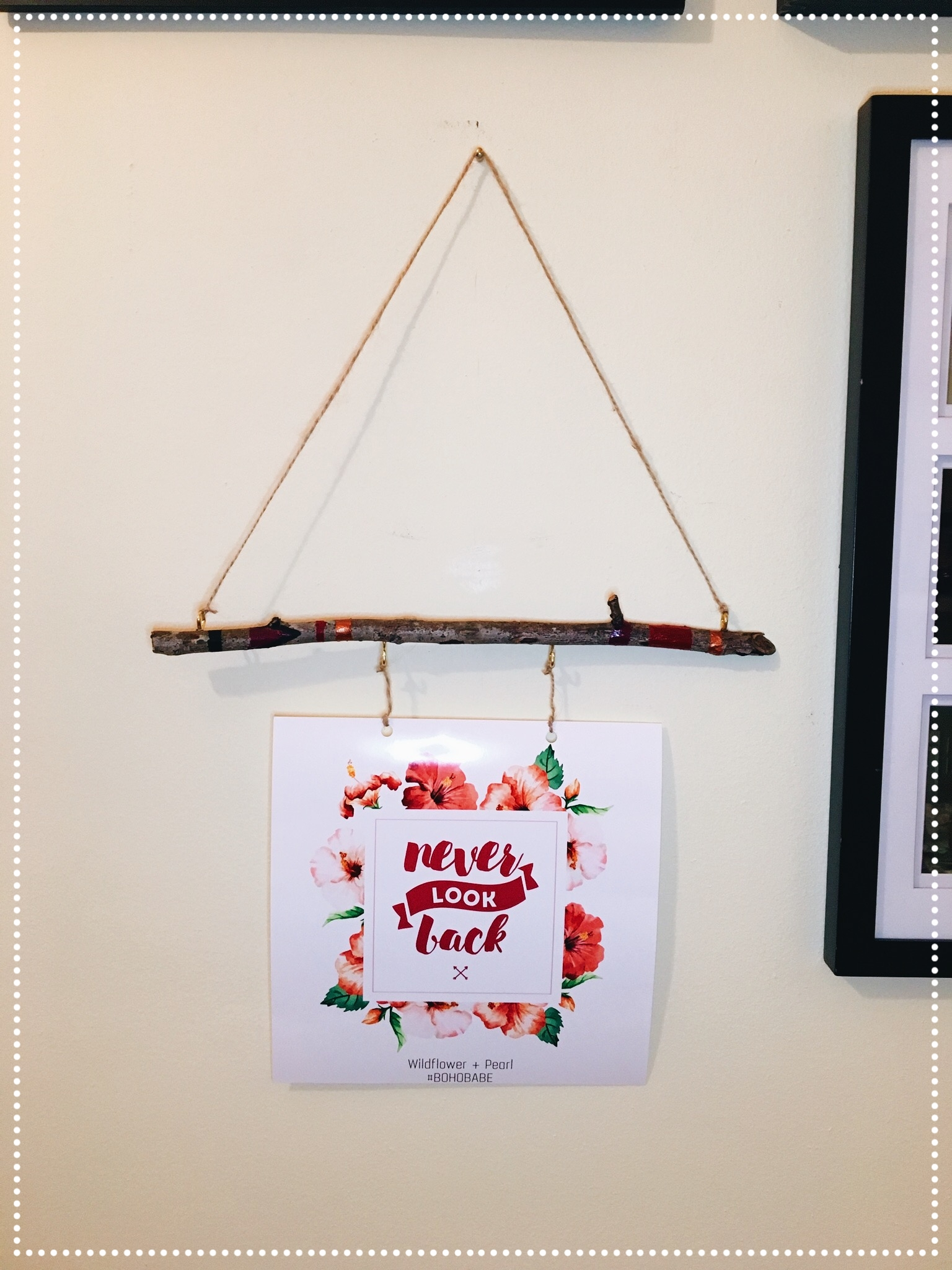 Hang the wall art on your dorm wall. It will also make a great addition to a gallery wall.