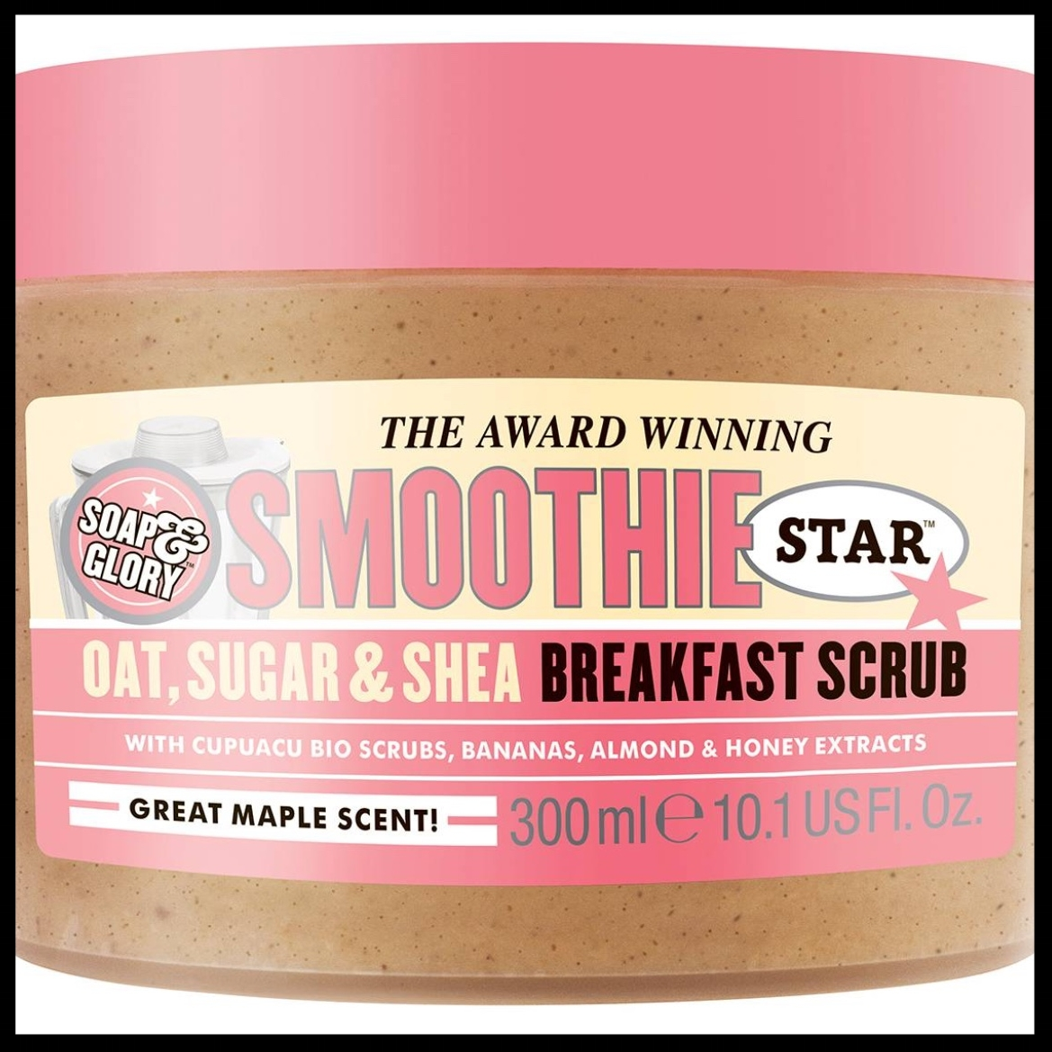 Soap & Glory® Smoothie Star Breakfast Scrub - $13.99 - Brisk, cold winter weather got the lady in your life down? Revive tired winter skin with the Smoothie Star Breakfast Scrub by Soap & Glory. Polish, smooth and moisturize your skin all at once with this Smoothie Star Breakfast Scrub from Soap & Glory. The perfect gift for a lady who likes to treat herself.