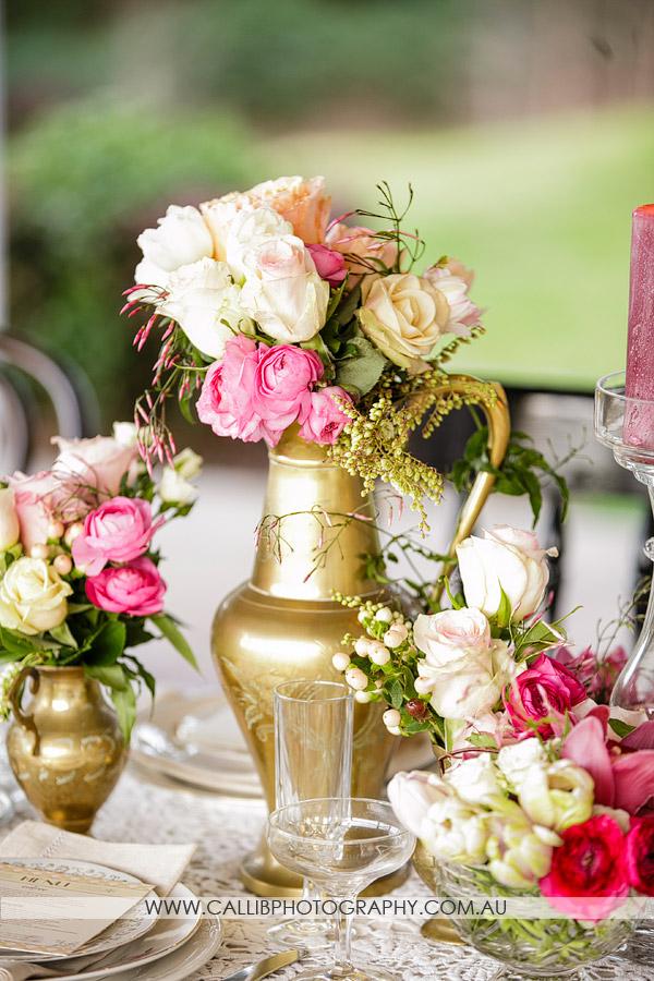 Gatsby Gold Vase