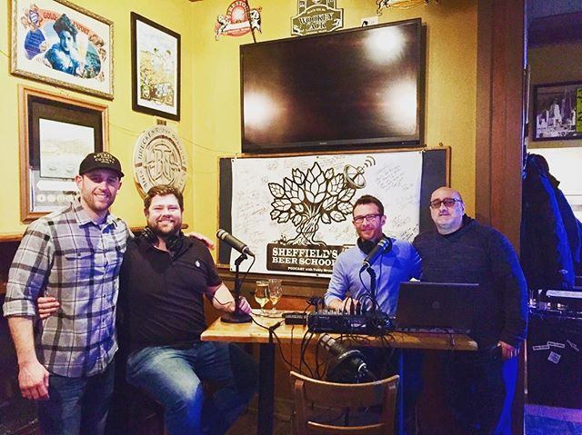 What a great way to kick off @cidersummit wknd! Thanks to #PaulVanderHeide for stopping by @sheffieldschi for a new #beerpod! Watch this space, coming soon! #CiderSummit #Podcast #PodernFamily #TGIF #Cider #ciderlovers