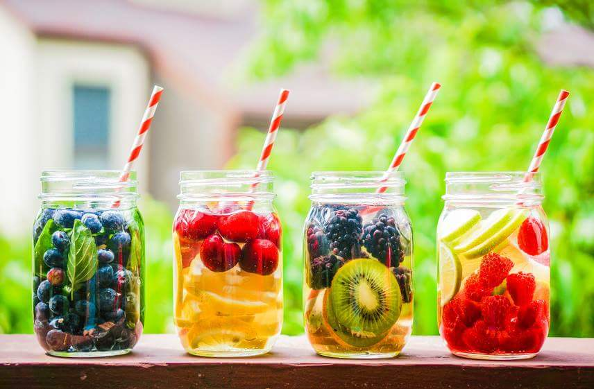 Health Tip: Add fruits to water. This makes a great alternative for soda or sweetened beverages.