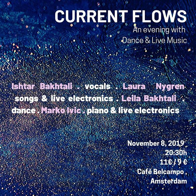 Before packing my loopstation for India :) I'll be sharing work made in collaboration with dancer @leilabakhtali as well as some solo material.  Sharing the evening on the 8th of November with @lalalauranyg & @theothermarkoivic.  #contemporarydance #liveelectronics #rc505 #interdisciplinary #crossover #indianclassicalmusic #improvisation #amsterdam