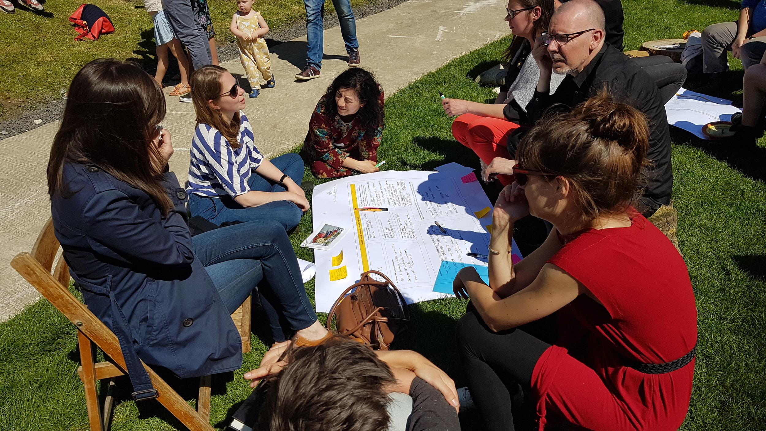 Groepsgesprek tijdens Commons Assembly 'Antwerpen Tuinstad' (5 mei 2018, de Singel)