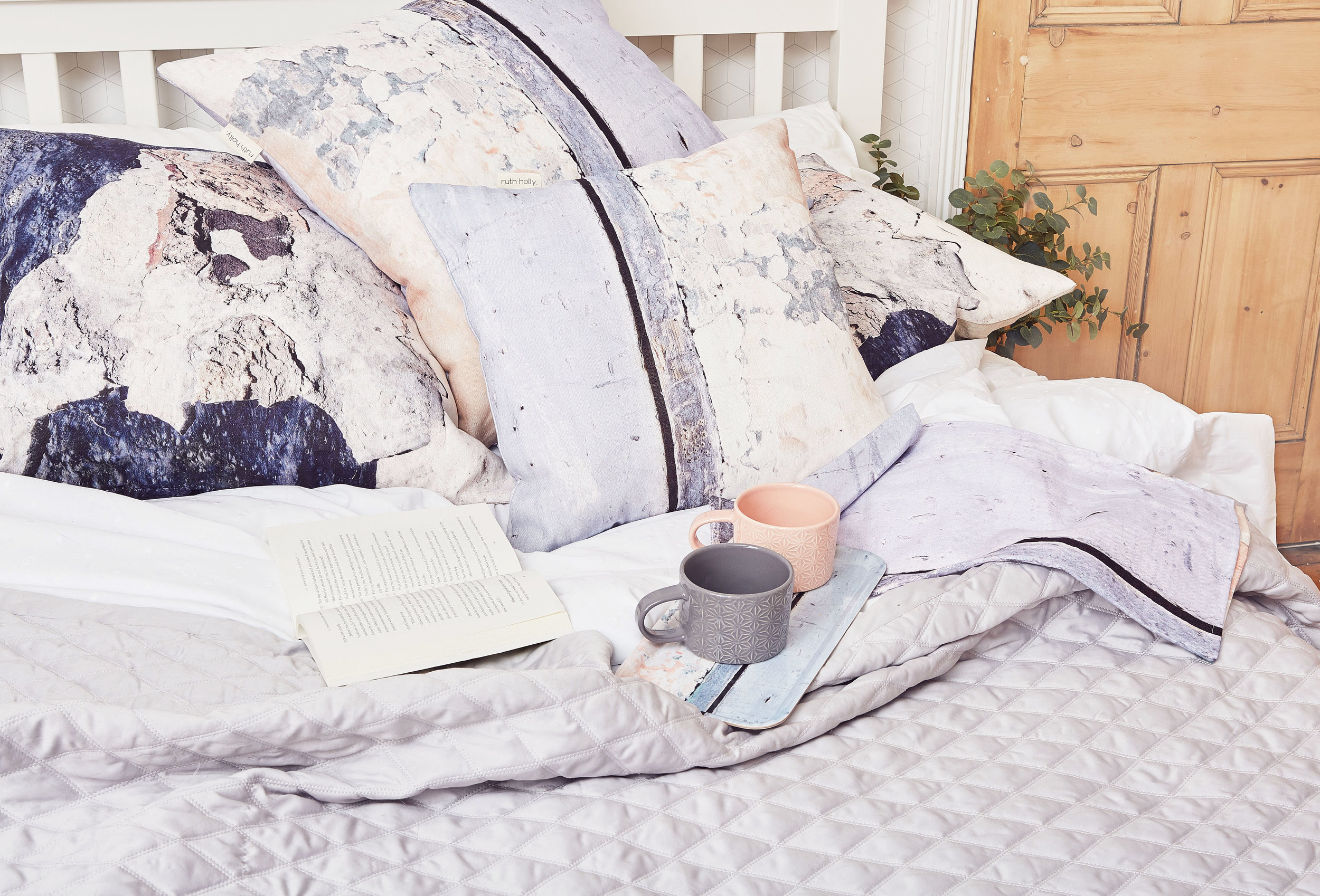 coastal inspired linen cushions