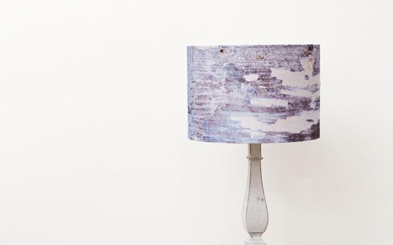 Breeze Blue coastal linen lampshade