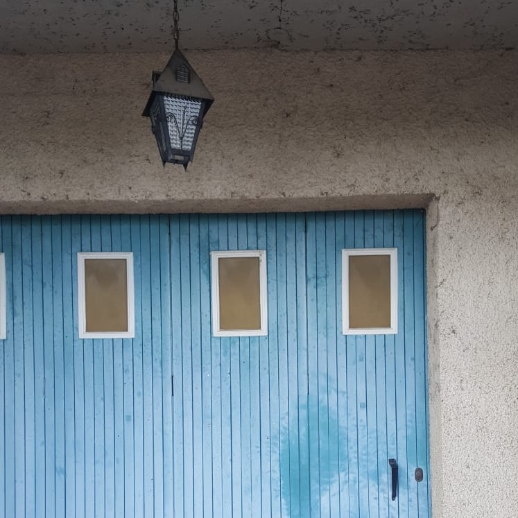 blue garage
