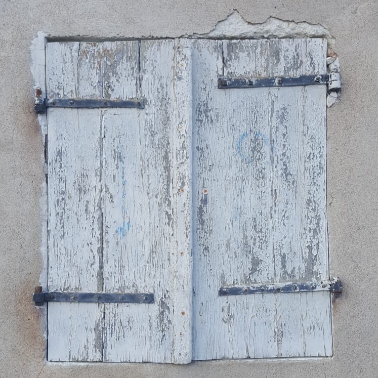 light blue shutters