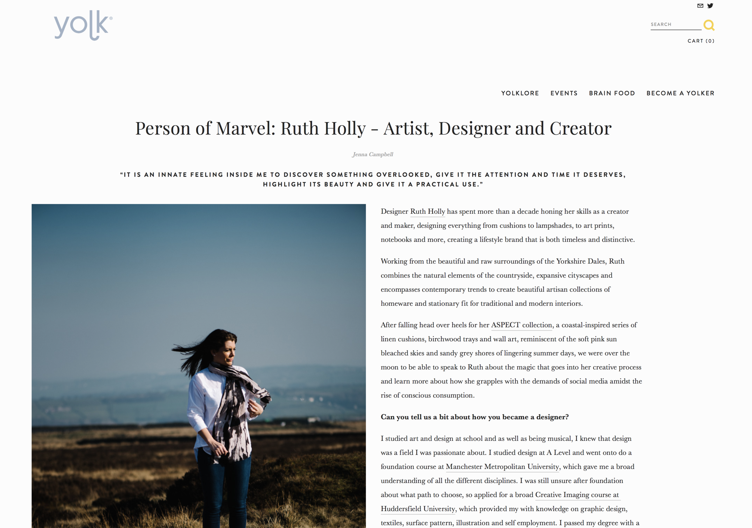 Yolklore: Person of Marvel Interview - Interviewed by the forward thinking marketing and creative studio in Manchester. Discussing everything from design roots to box-sets!You can read the interview here.