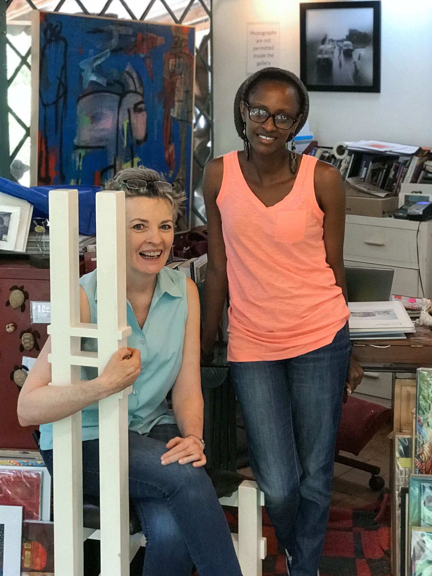 Carol Lees and Kui Ogonga of One Off Gallery