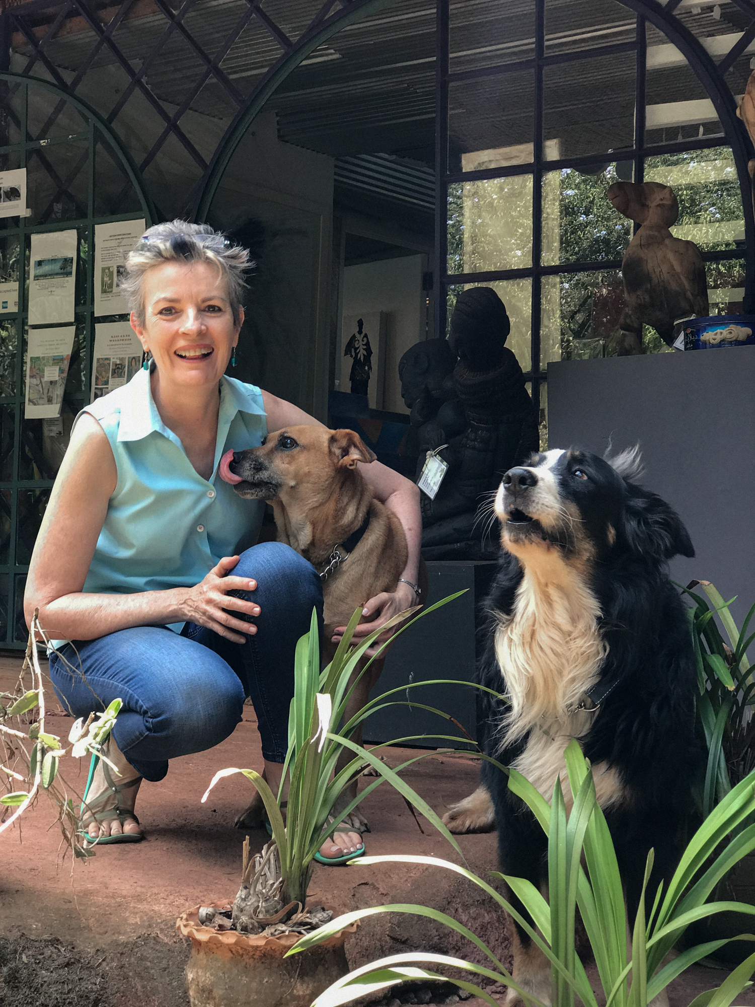 Carol with some of her lovely pets.