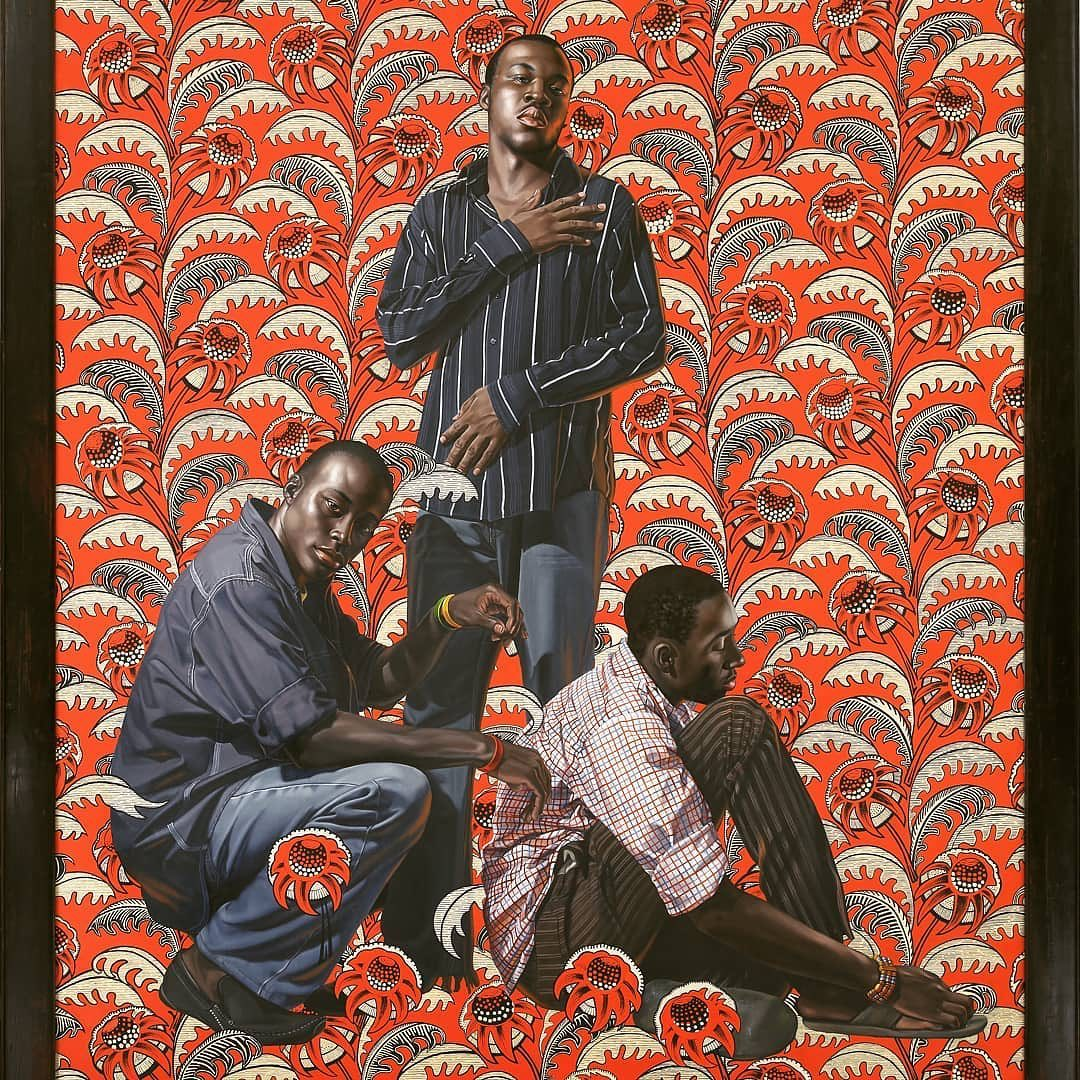 "Kehinde Wiley ""Hunger Paint"", 244 x 213 cm, The Sindika Dokolo collection"