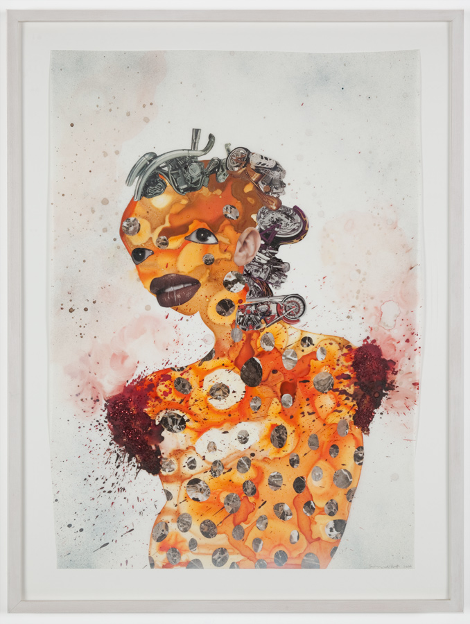 Wangechi Mutu, Untitled, Collage on mylar, 2004, 82 x 62 cm, © Wangechi Mutu