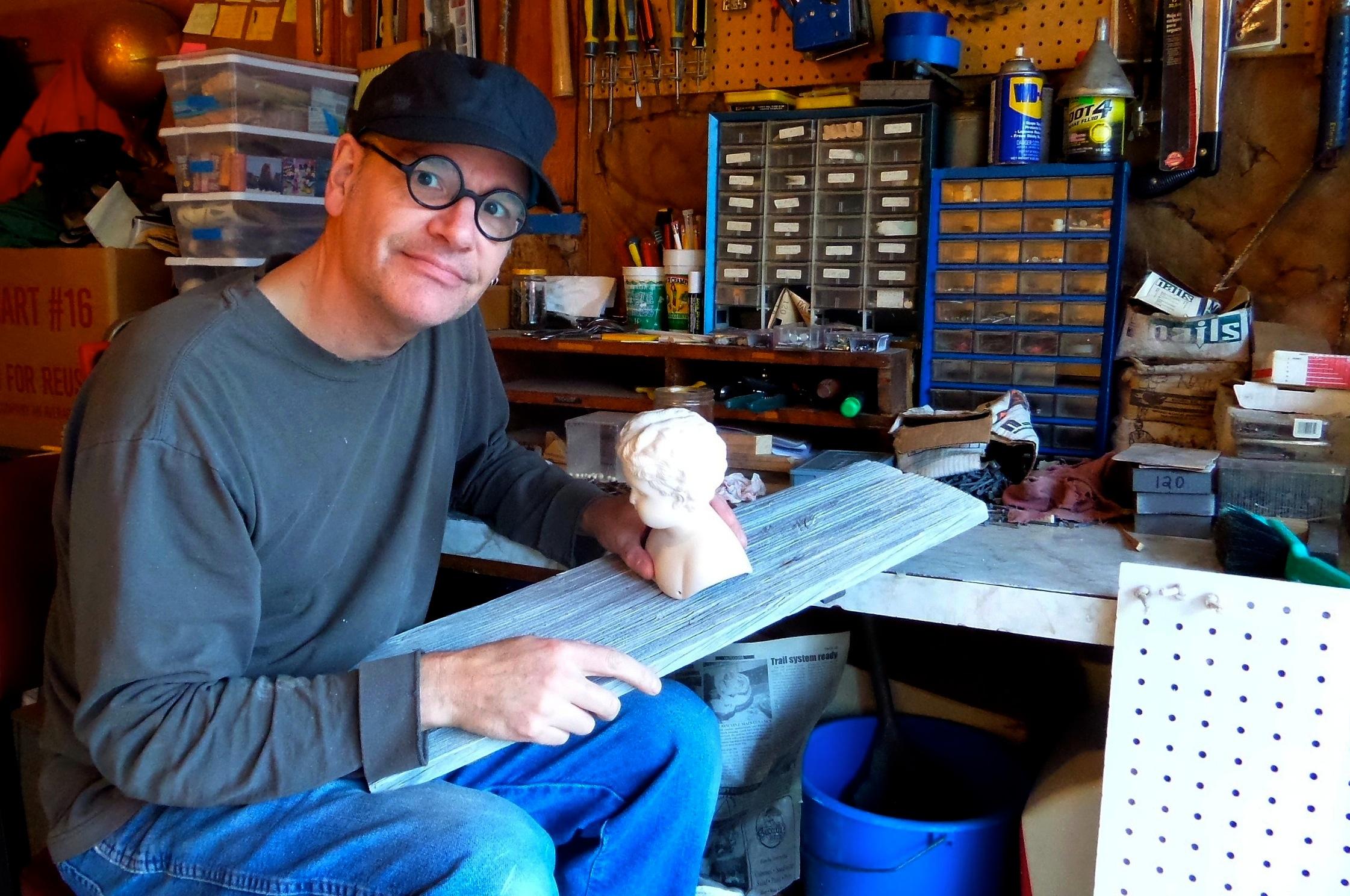 Brian Schorn at his Studio Rubedo workshop in Michigan.