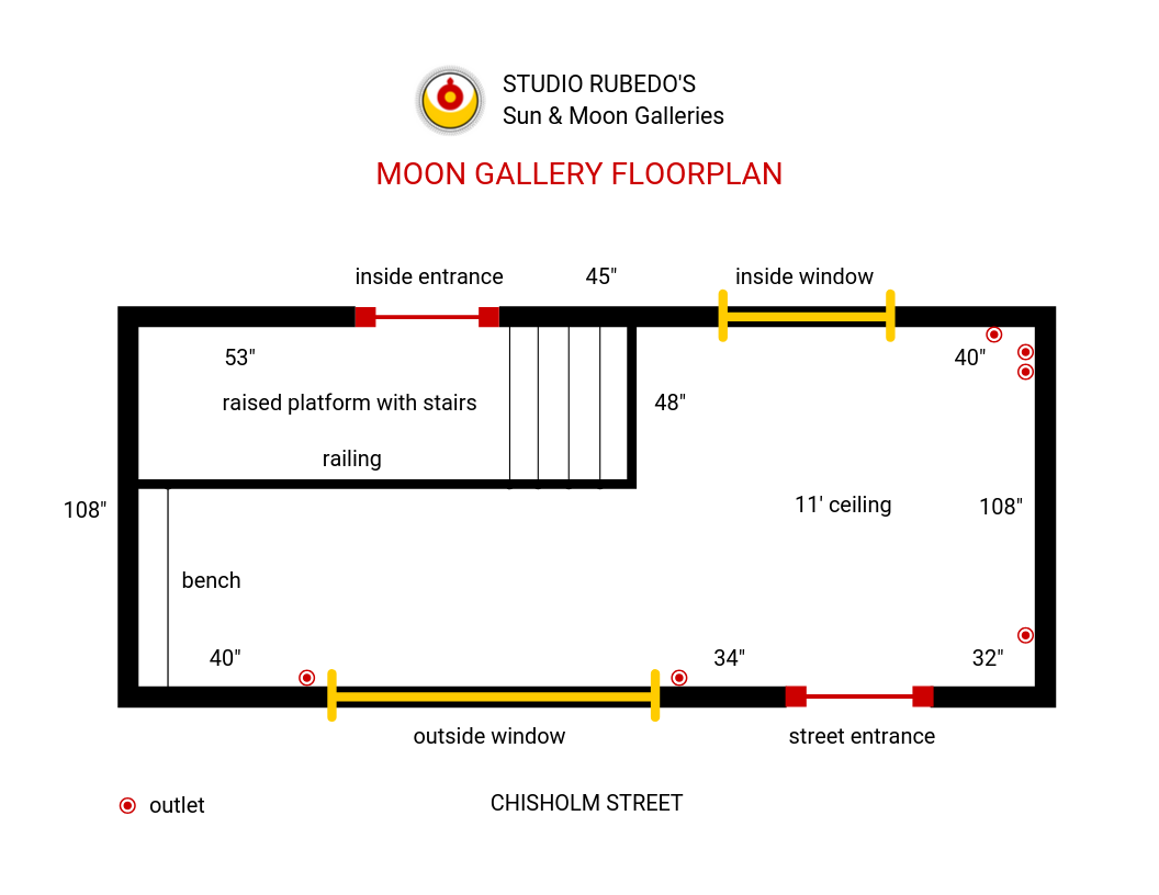 Get the Moon Gallery Floor Plan by clicking the  button below.