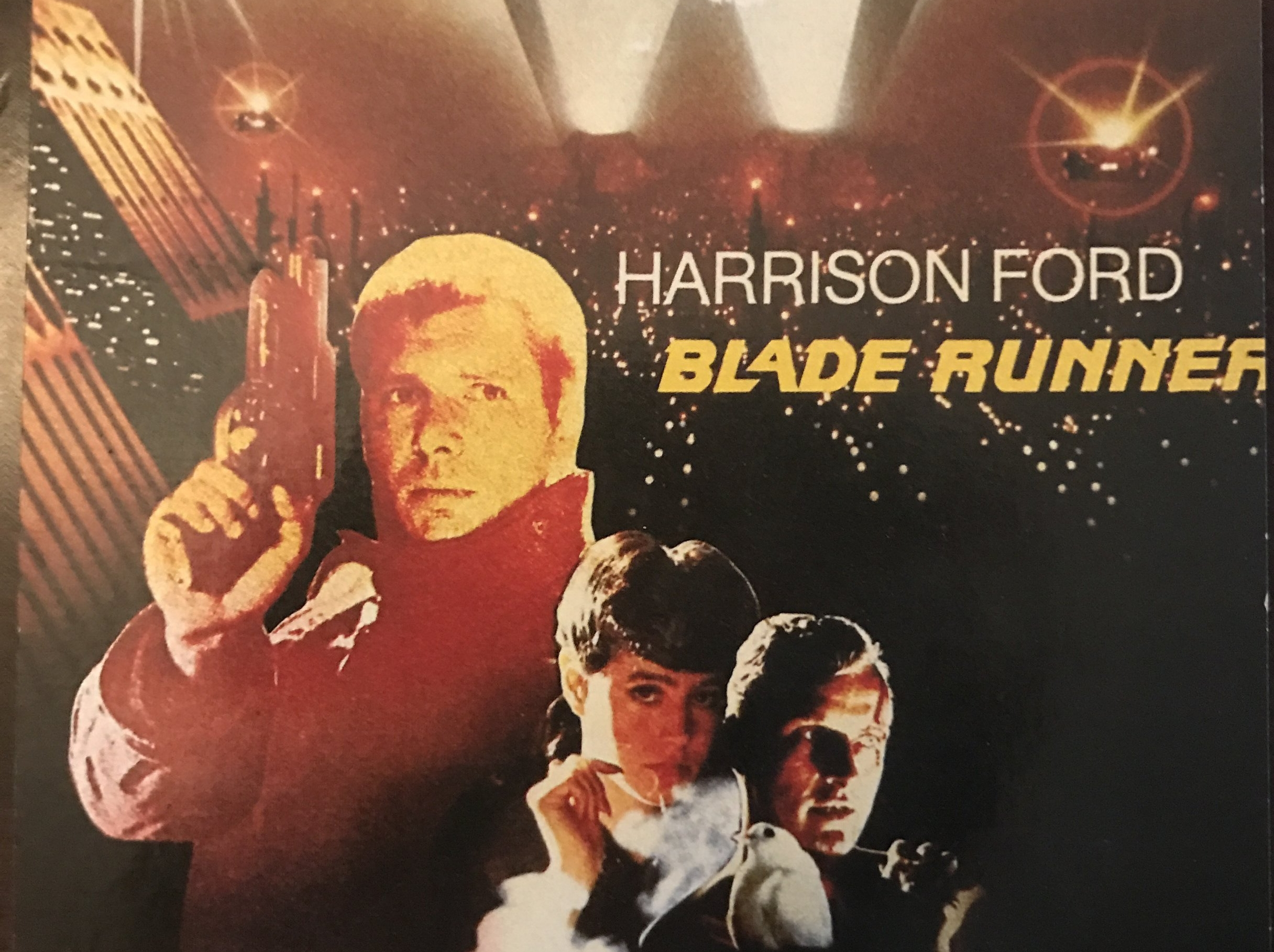 From a French postcard of the original  Blade Runner .