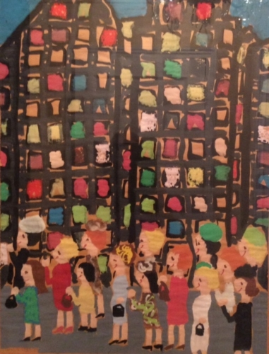 My painting of New York City when I was about 9 years old
