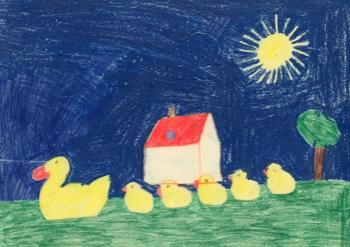 My drawing when I was in kindergarten in Switzerland, age 5.