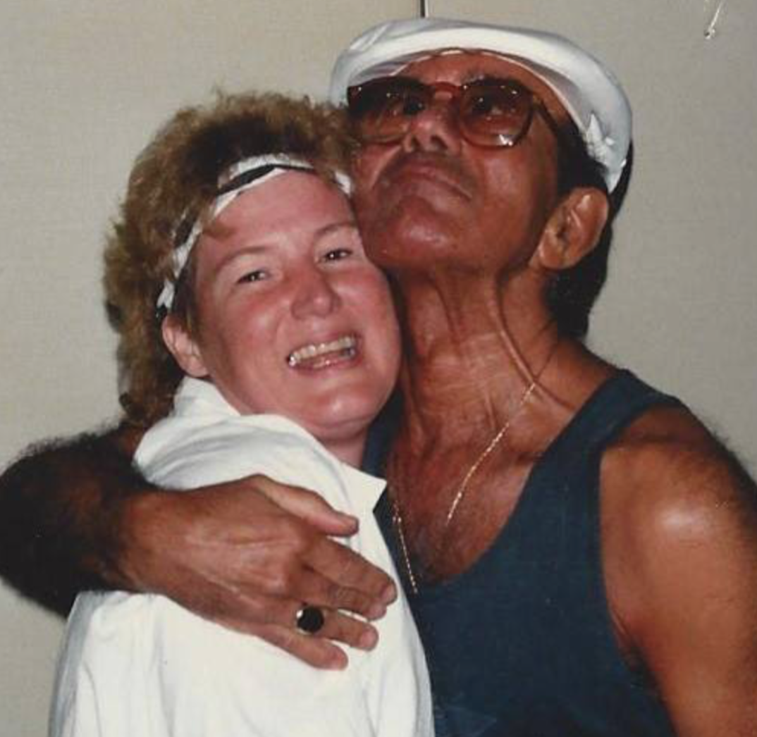 Ann Catherine Cross pictured with the father of Jazz Technique, the legendary Luigi.
