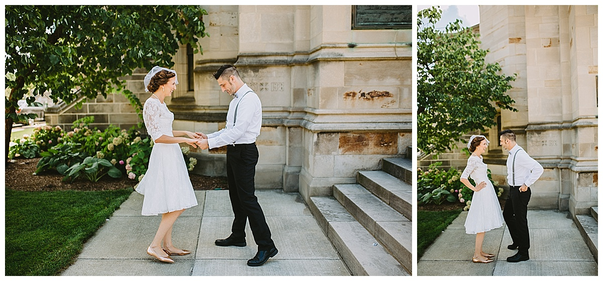 first look Kalamazoo michigan wedding