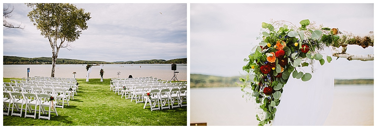 Lake Michigan Boyne Mountain Wedding Ceremony
