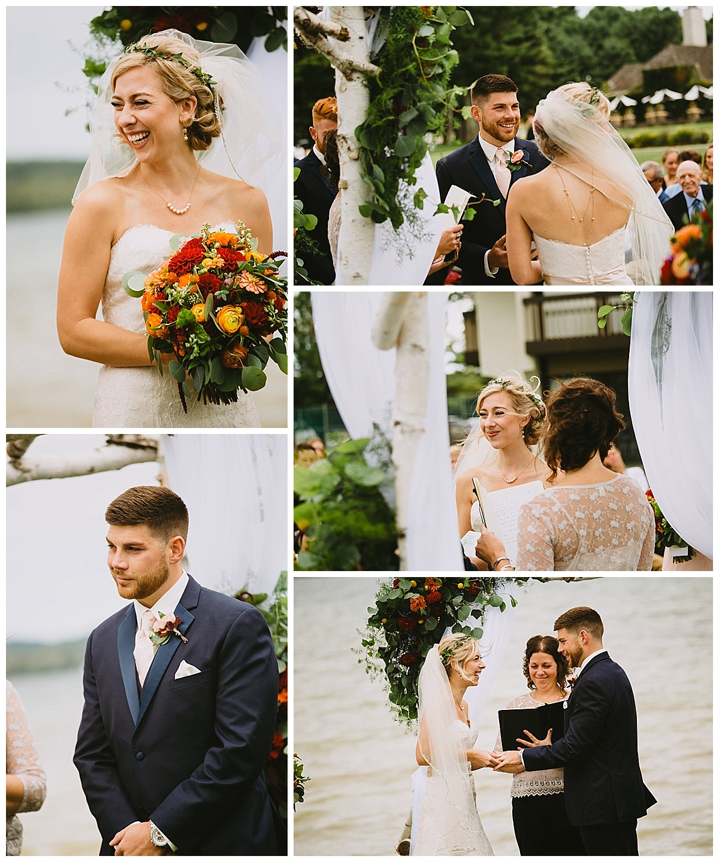 Boyne Mountain Wedding ceremony