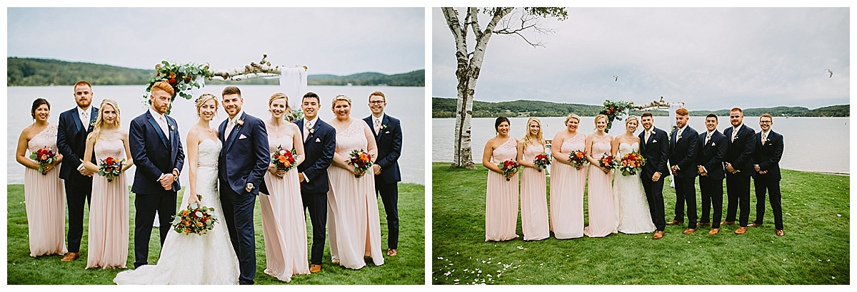 Northern Michigan Boyne Mountain Wedding Party