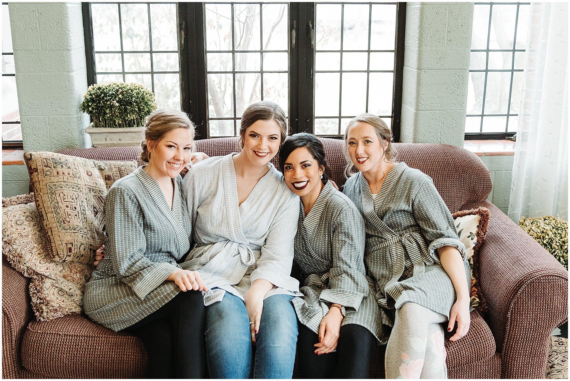 bride and bridesmaids robes