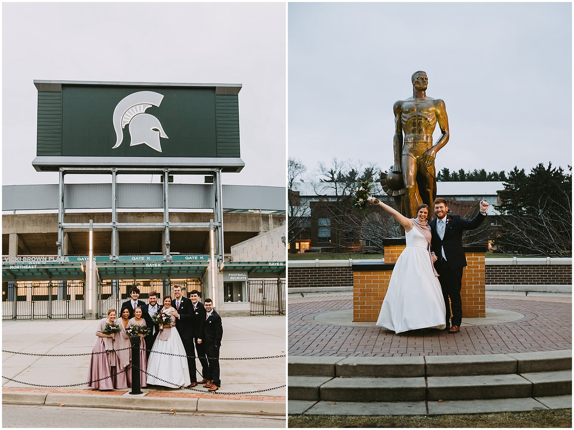 Sparty Bride and Groom