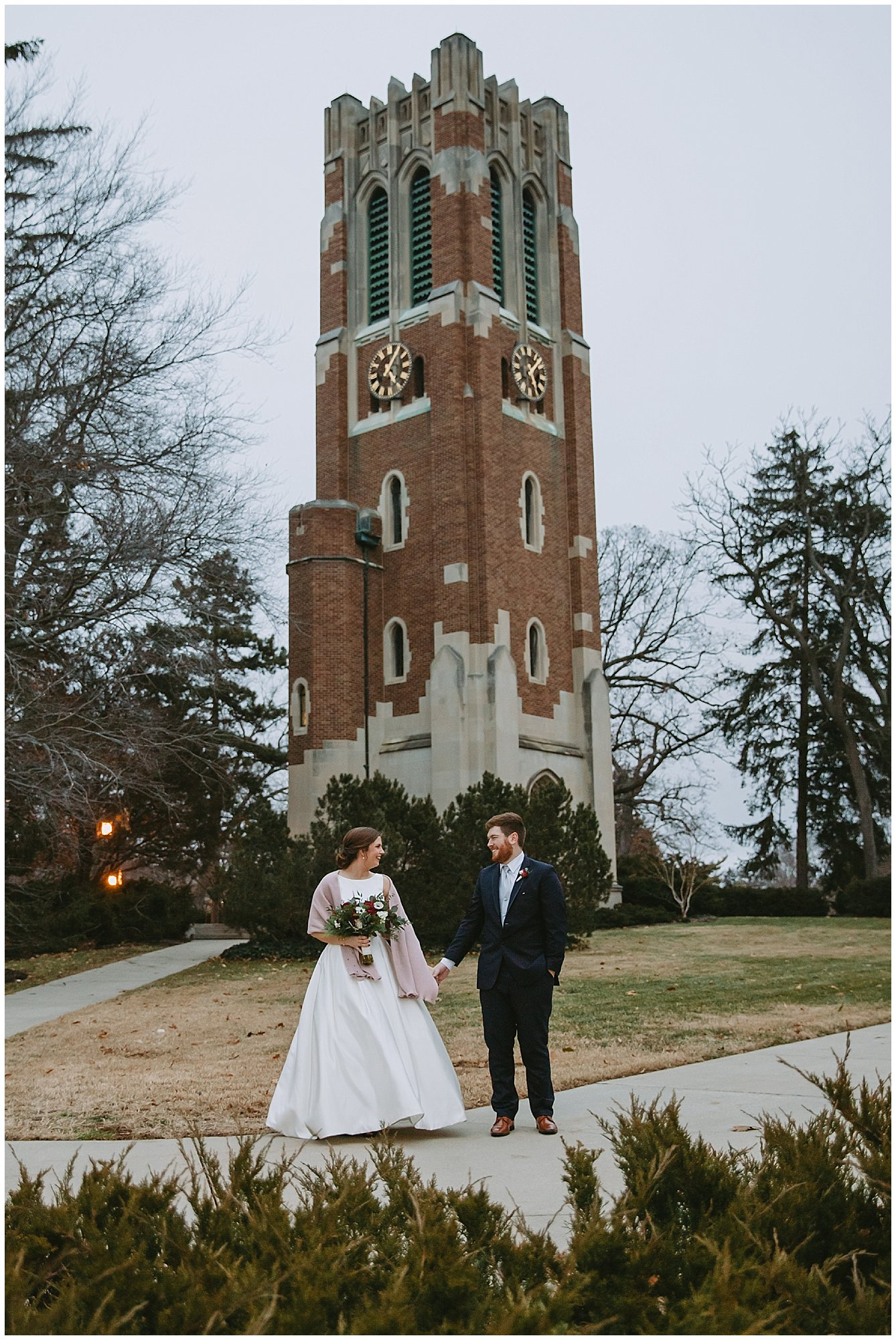 Beaumont Tower Bride and Groom