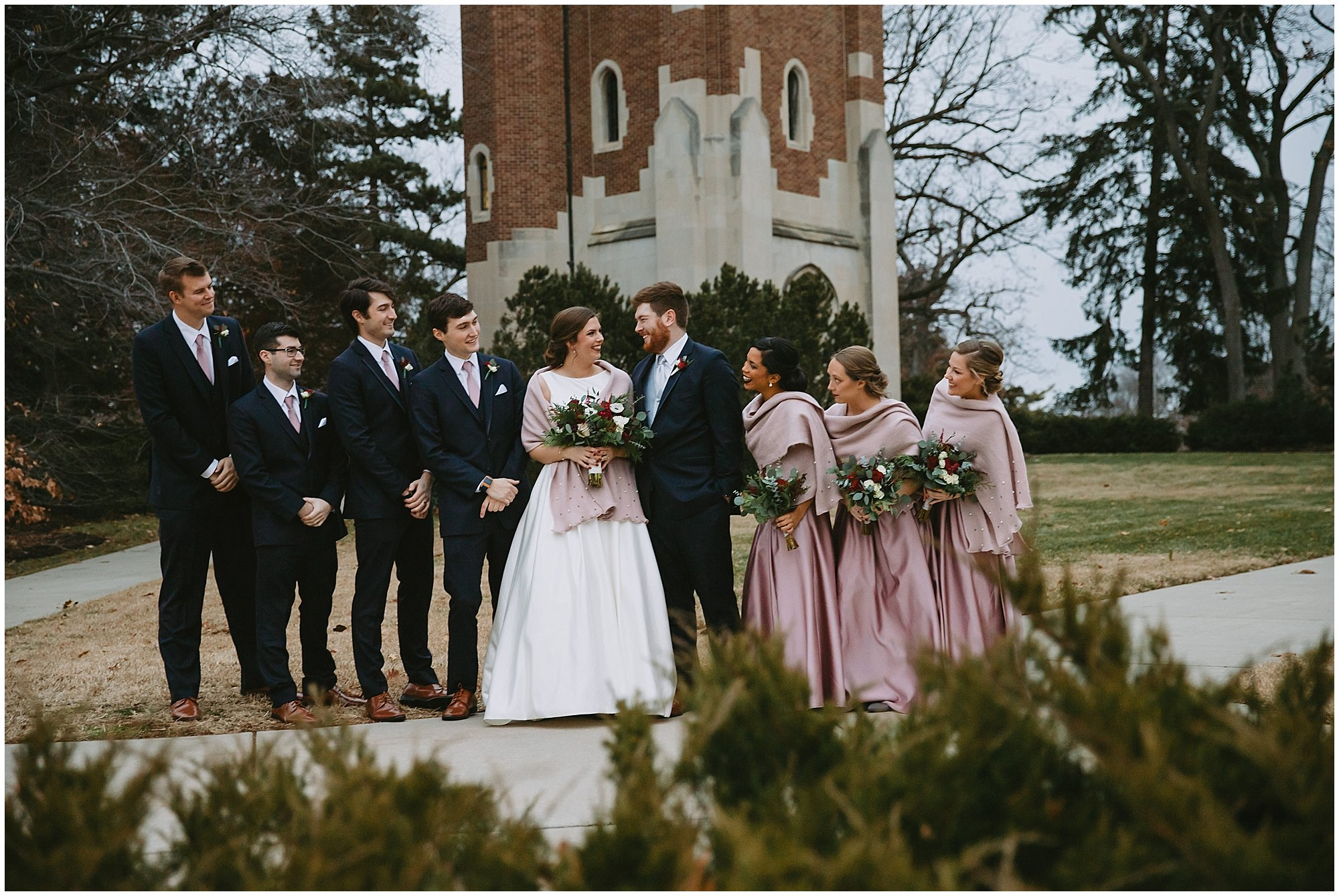 Beaumont Tower Wedding party