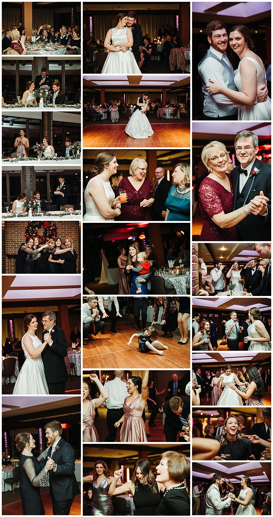 Michigan State University Club Wedding Reception