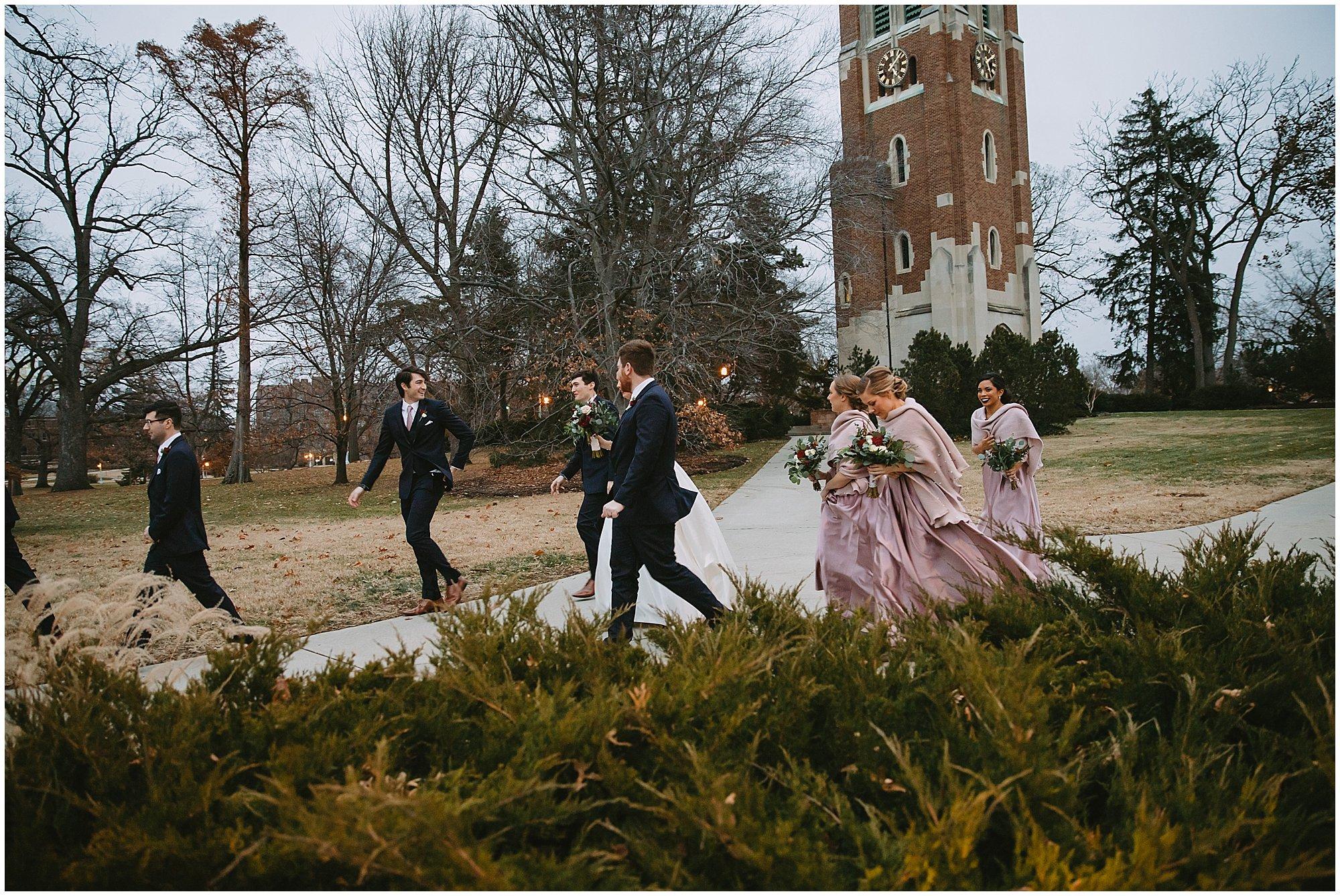 winter wedding party michigan state