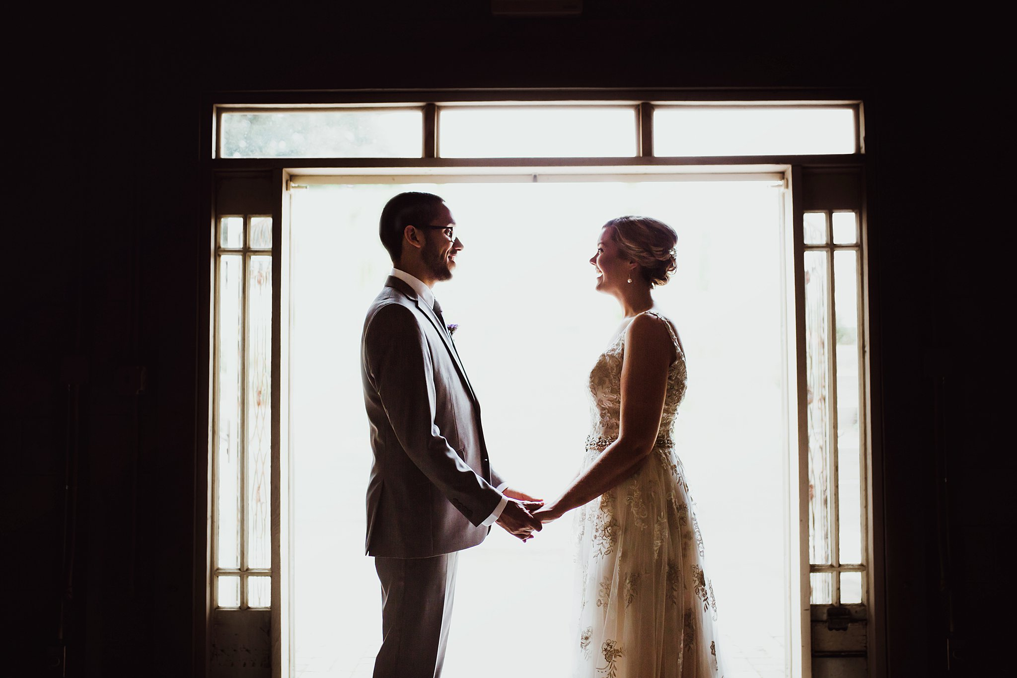 Backlit couple photography at sundance studios wedding