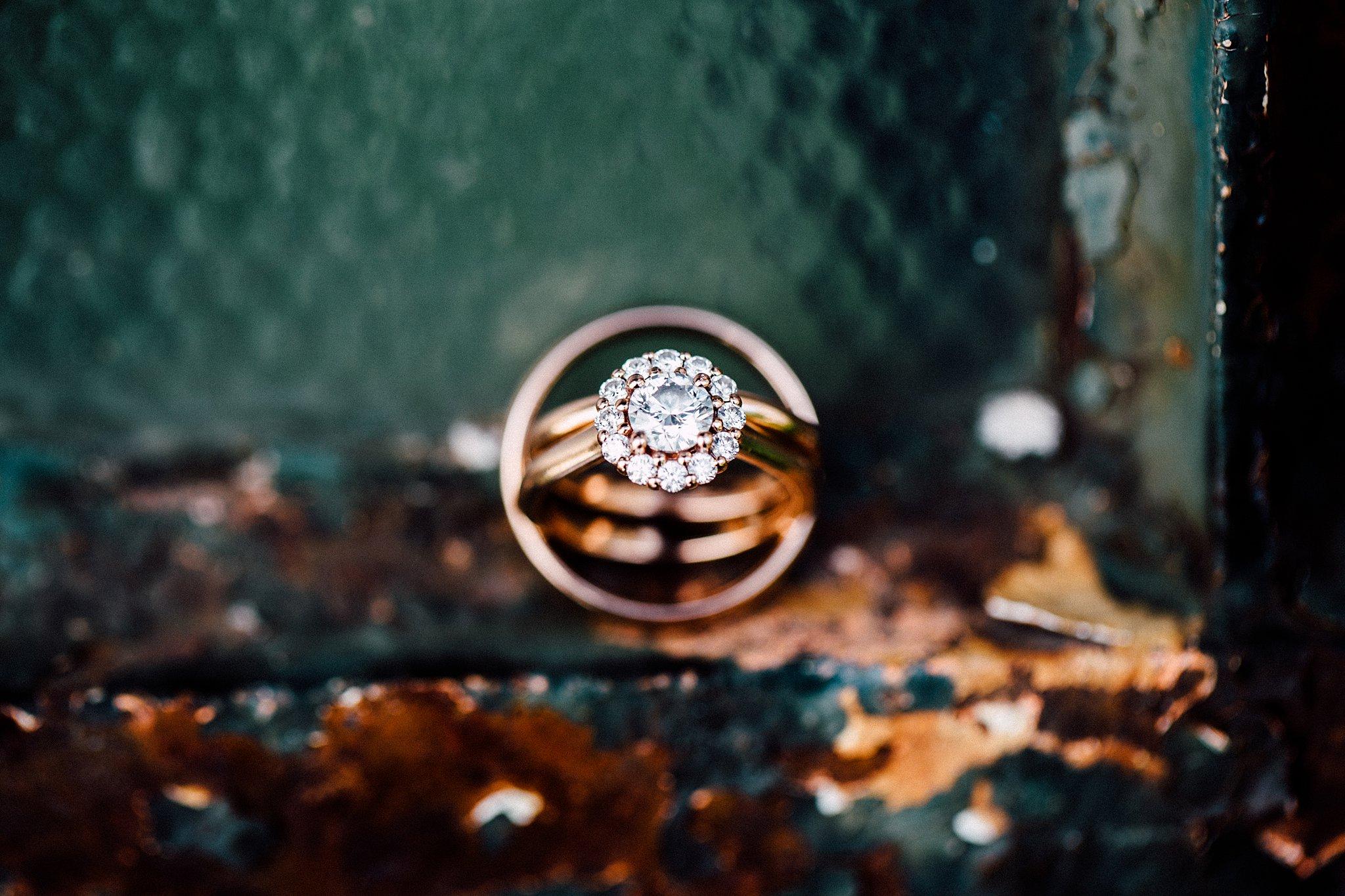 macro ring shot rose gold brilliant earth