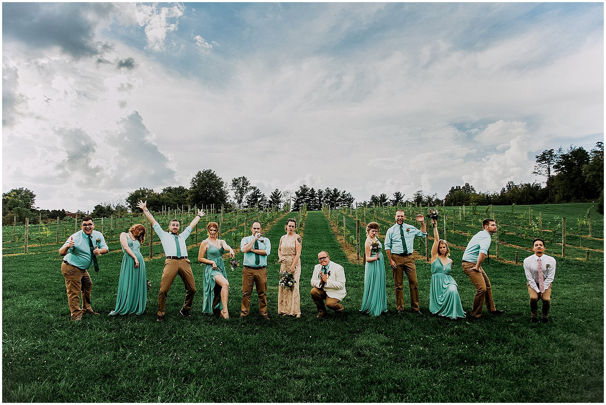wedding bridal party fun
