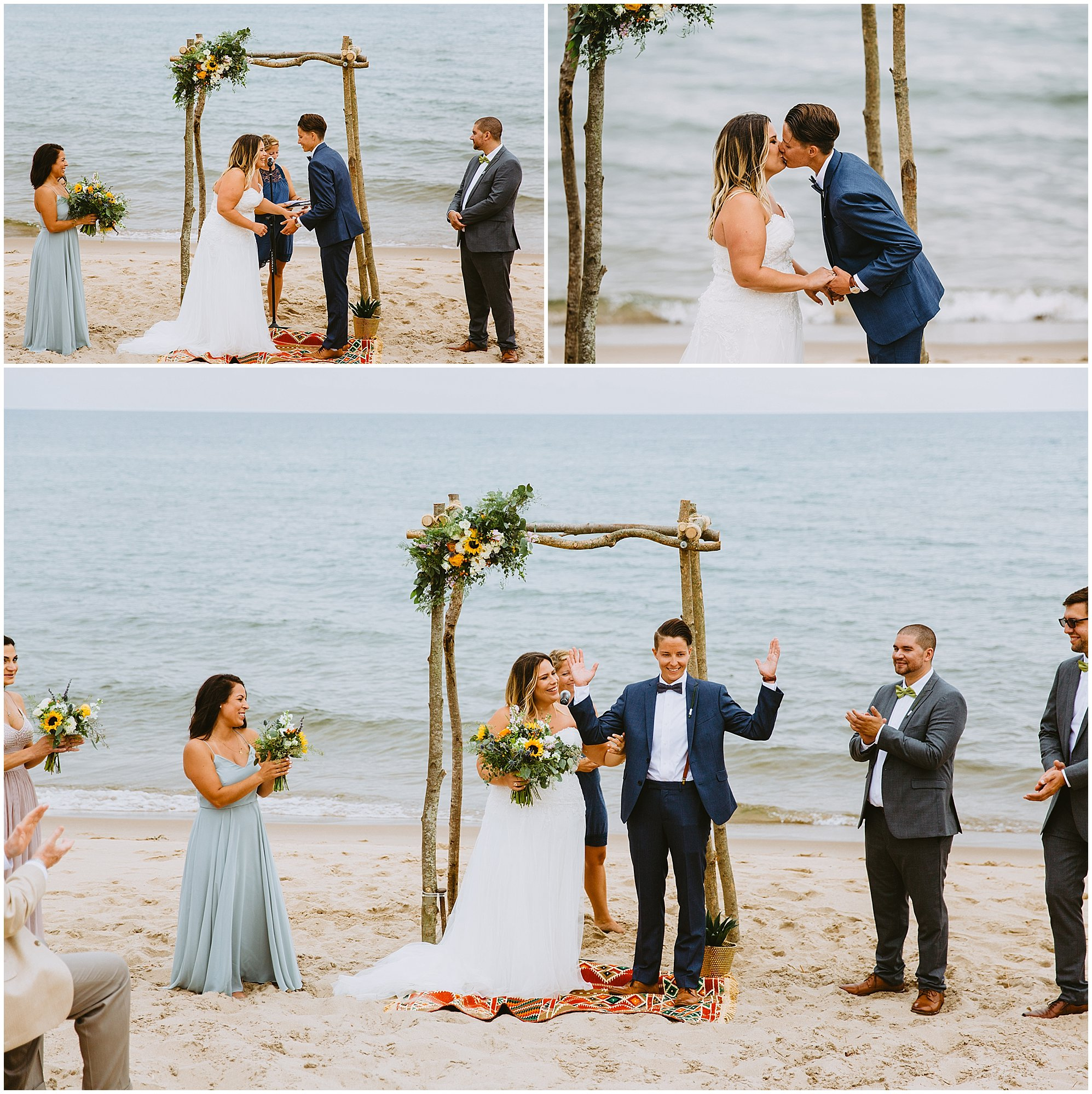 beach lgbtq ceremony wedding