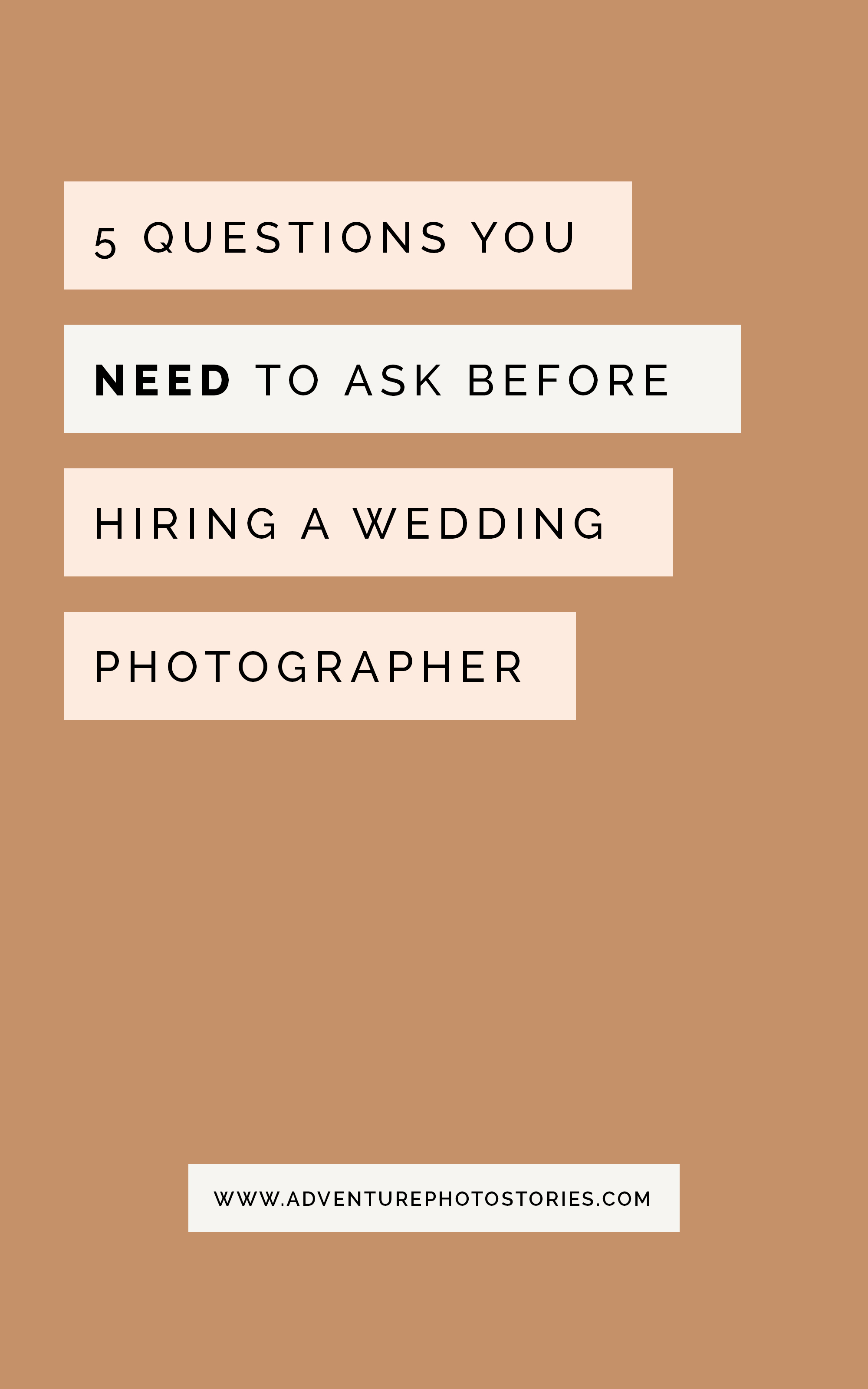What questions to ask when looking for and before hiring a wedding photographer