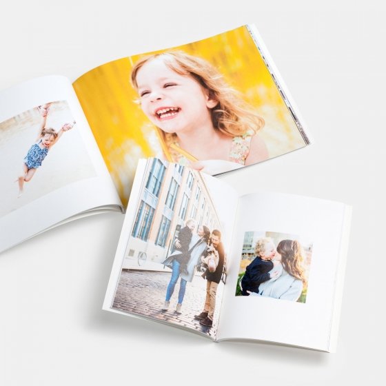 Softcover Family Book $75 - 8.5x11 soft cover photo book with 20 proPhoto paper pages