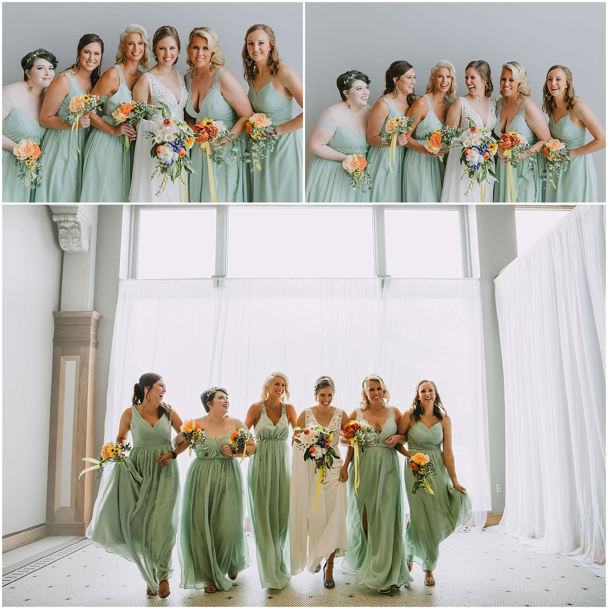 bridesmaids mint dresses