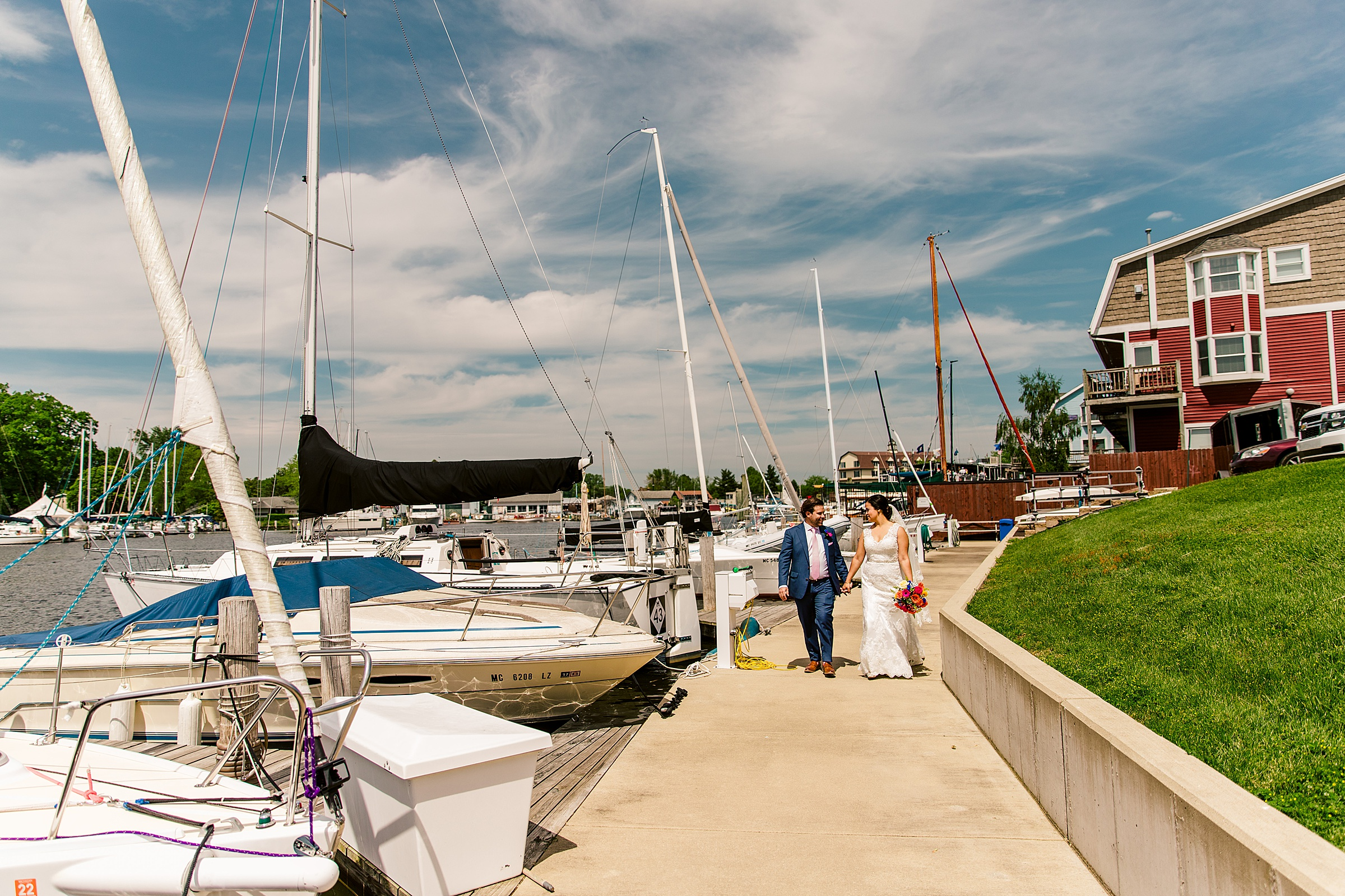 south haven yacht club lake michigan wedding photographer