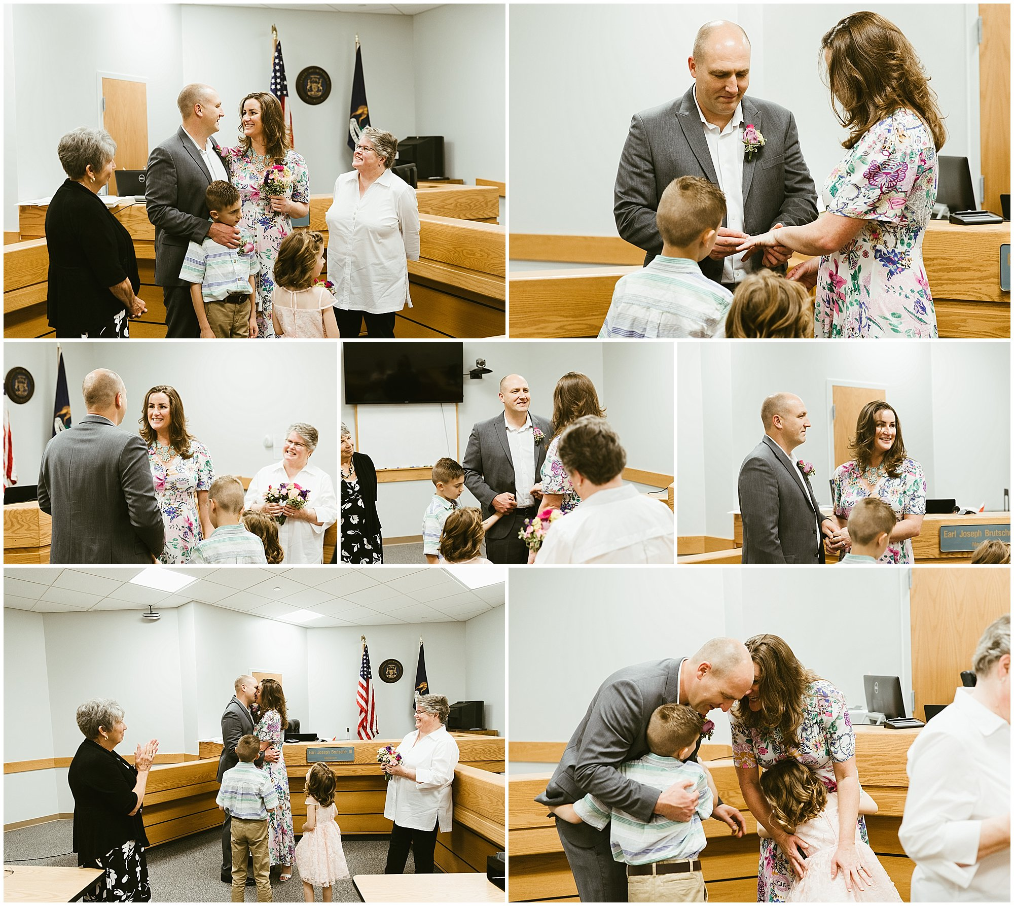 battle creek courthouse wedding elopement photography
