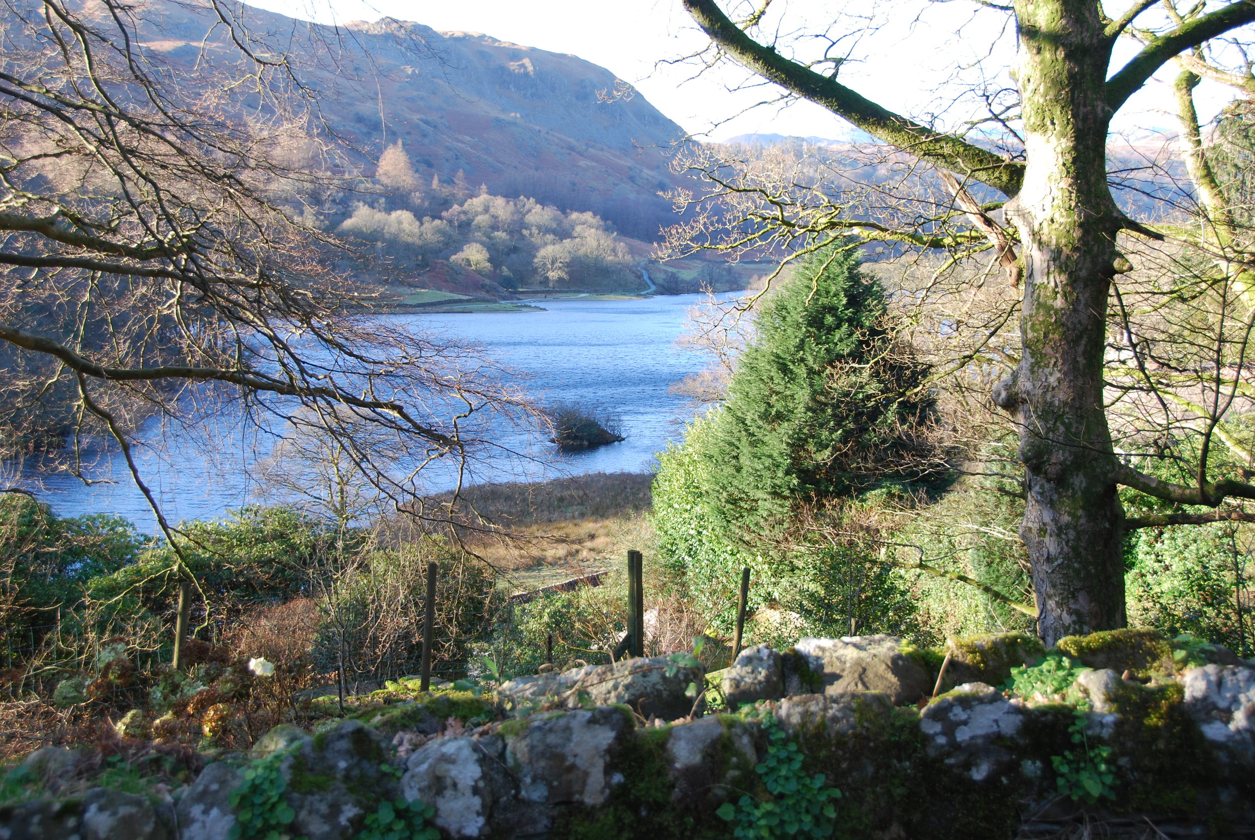 View over Rydal Water from the Croquet Lawn