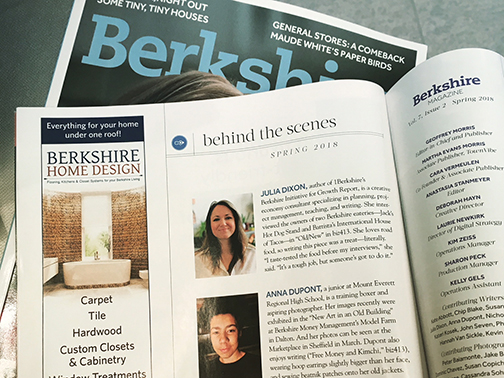 BERKSHIRE MAGAZINE  Spring 2018 Business Interview