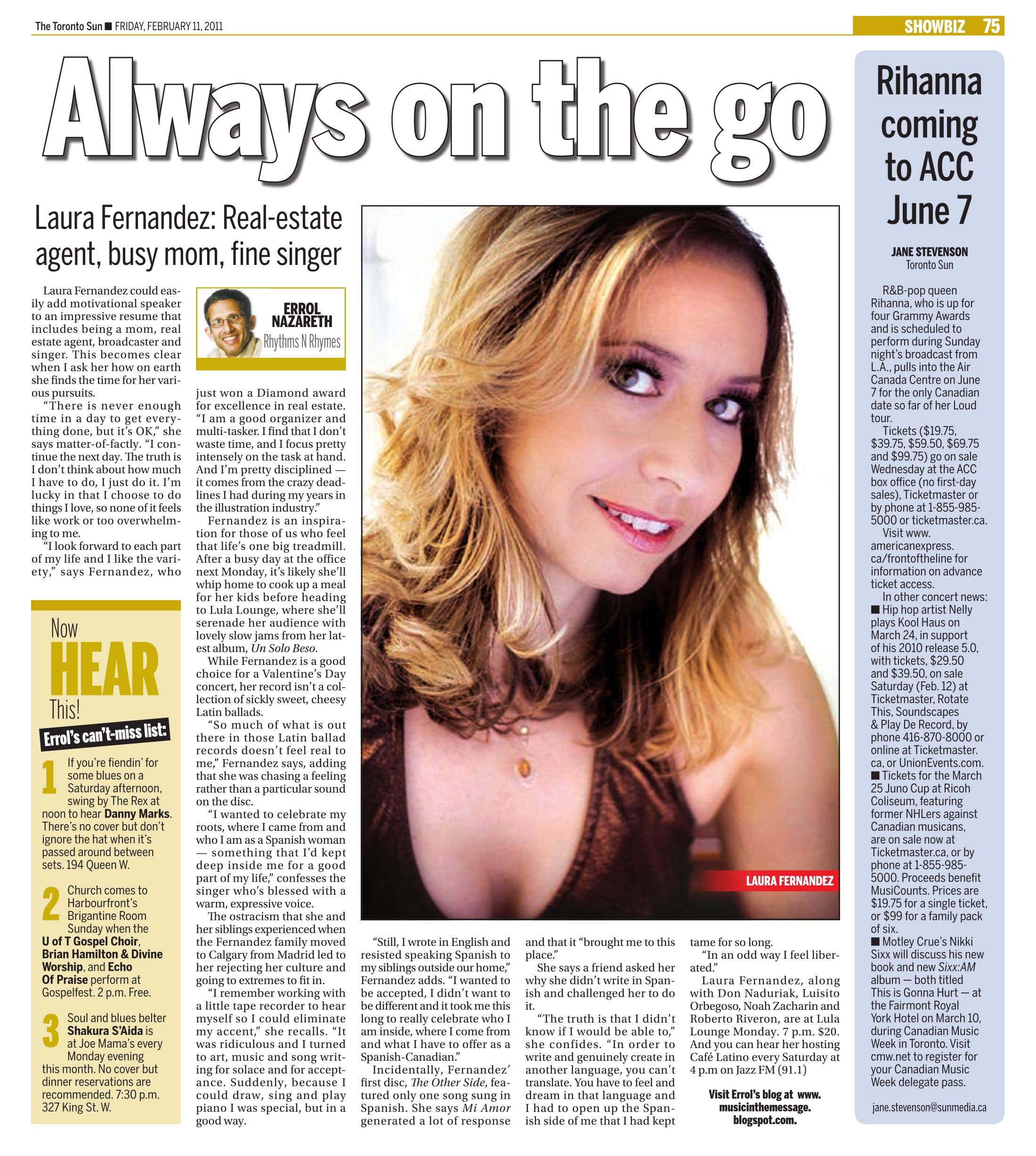 Laura Fernandez Toronto Sun Profile